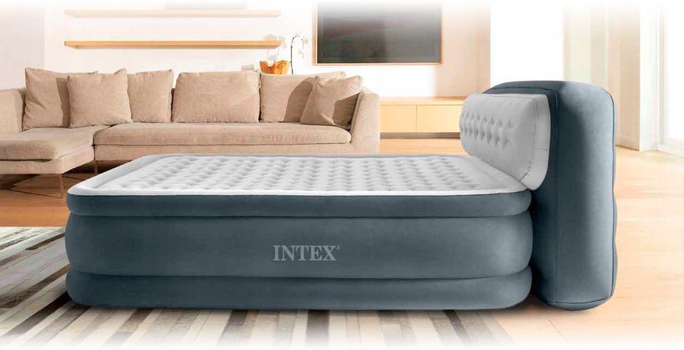 Надувная кровать со спинкой Intex 64448