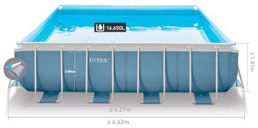 Купить каркасный бассейн Intex 28764