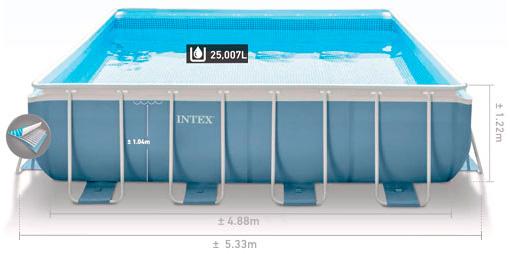 Купить каркасный бассейн Intex 28766