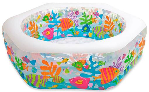 Надувной детский бассейн 56493 intex Океанский Риф