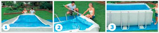 Как собрать каркасный бассейн Intex 28352