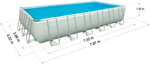 Купить в минске каркасный бассейн Intex 28366